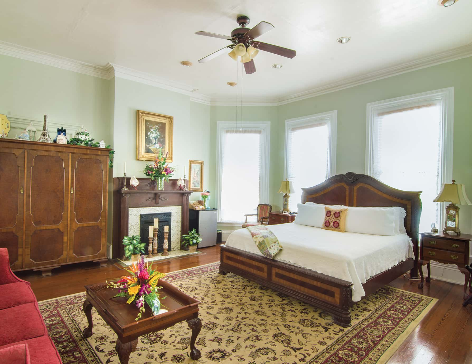 Anne Suite bed at our Key West, FL Inn