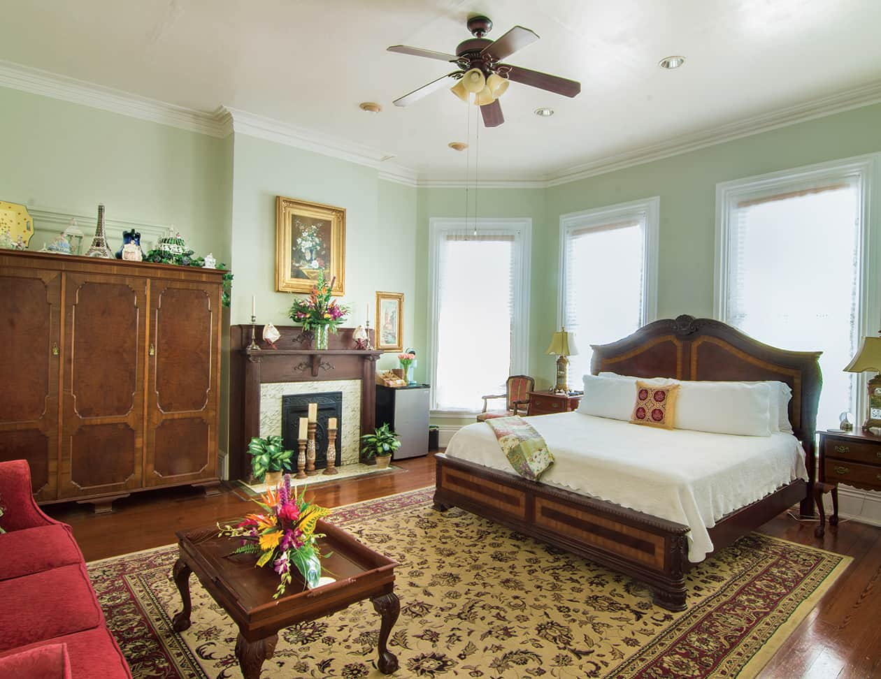 Anne Suite bed at our Romantic Key West, FL Inn