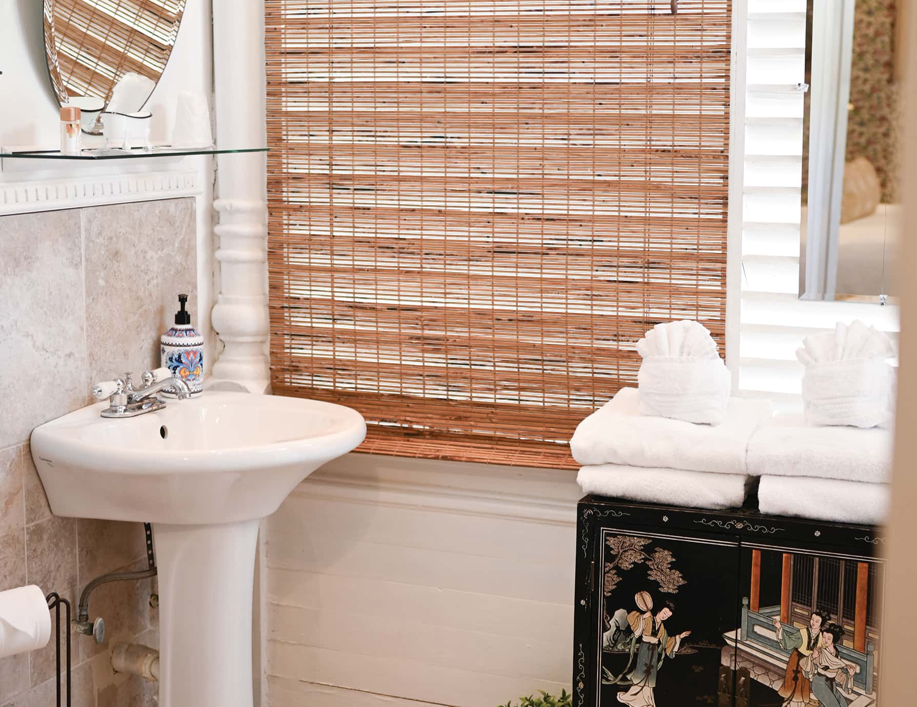 Garden Room bath at our Romantic Key West Accommodations