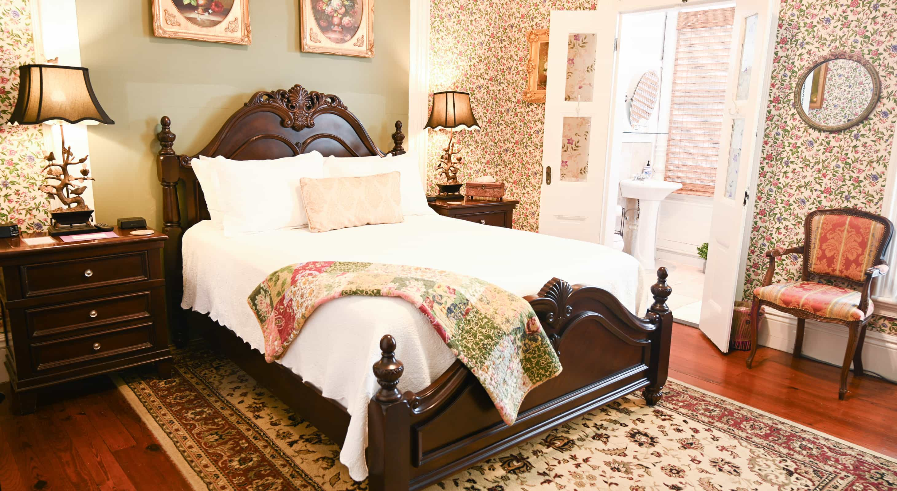 Garden Room Bed - Romantic Key West Accommodations in Old Town