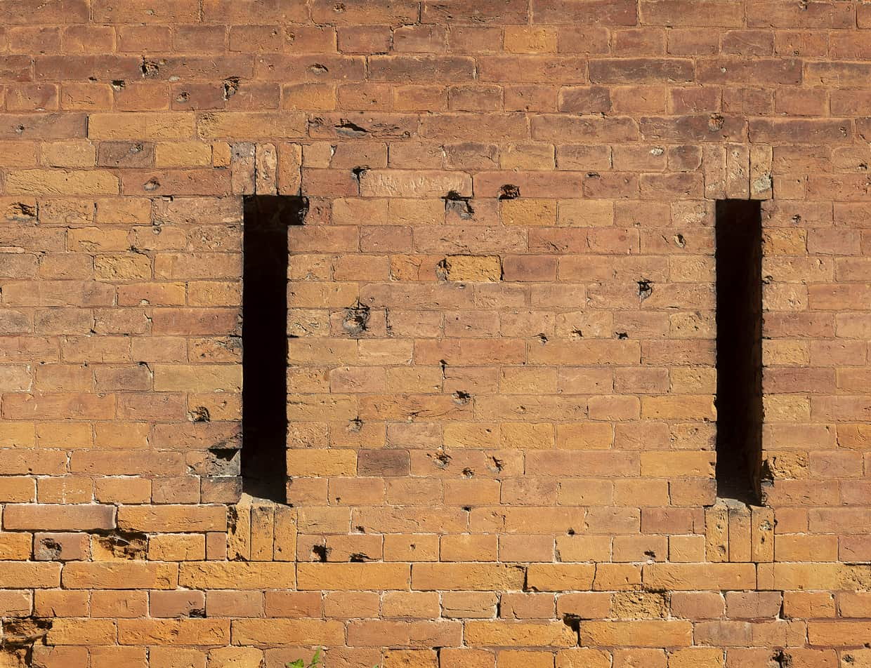 Old brick fort wall