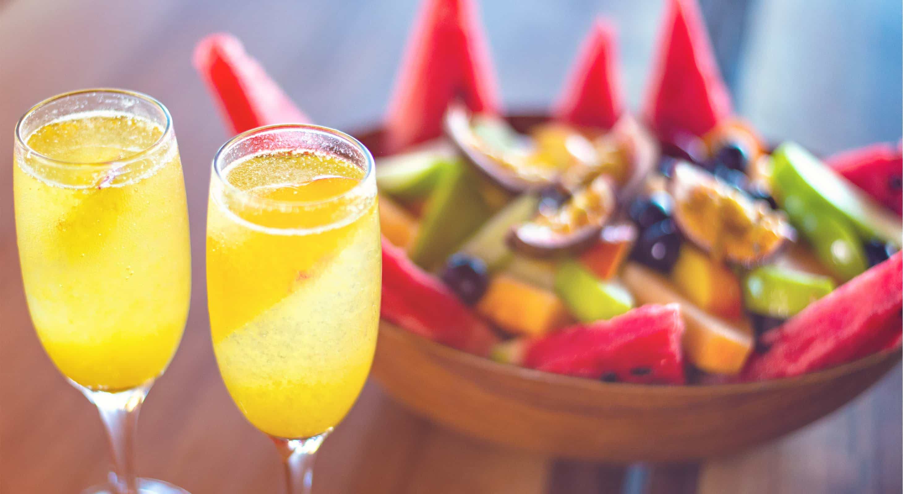 Champagne and fruit at our historic Key West B&B
