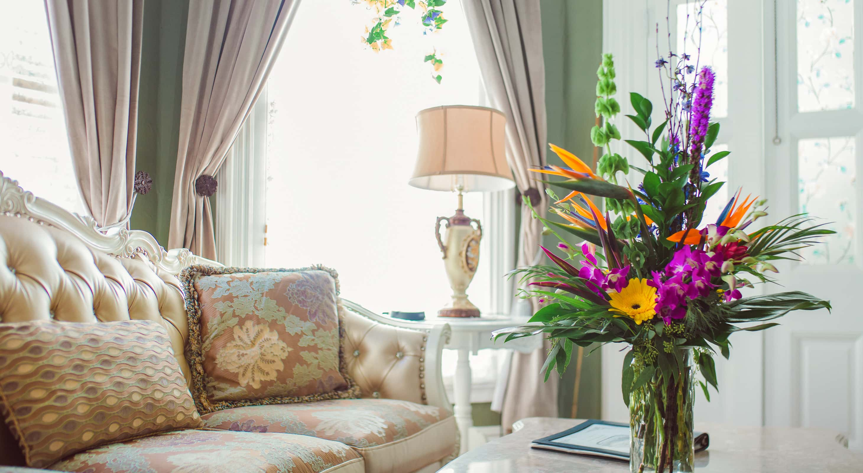 A bright room at our Key West B&B
