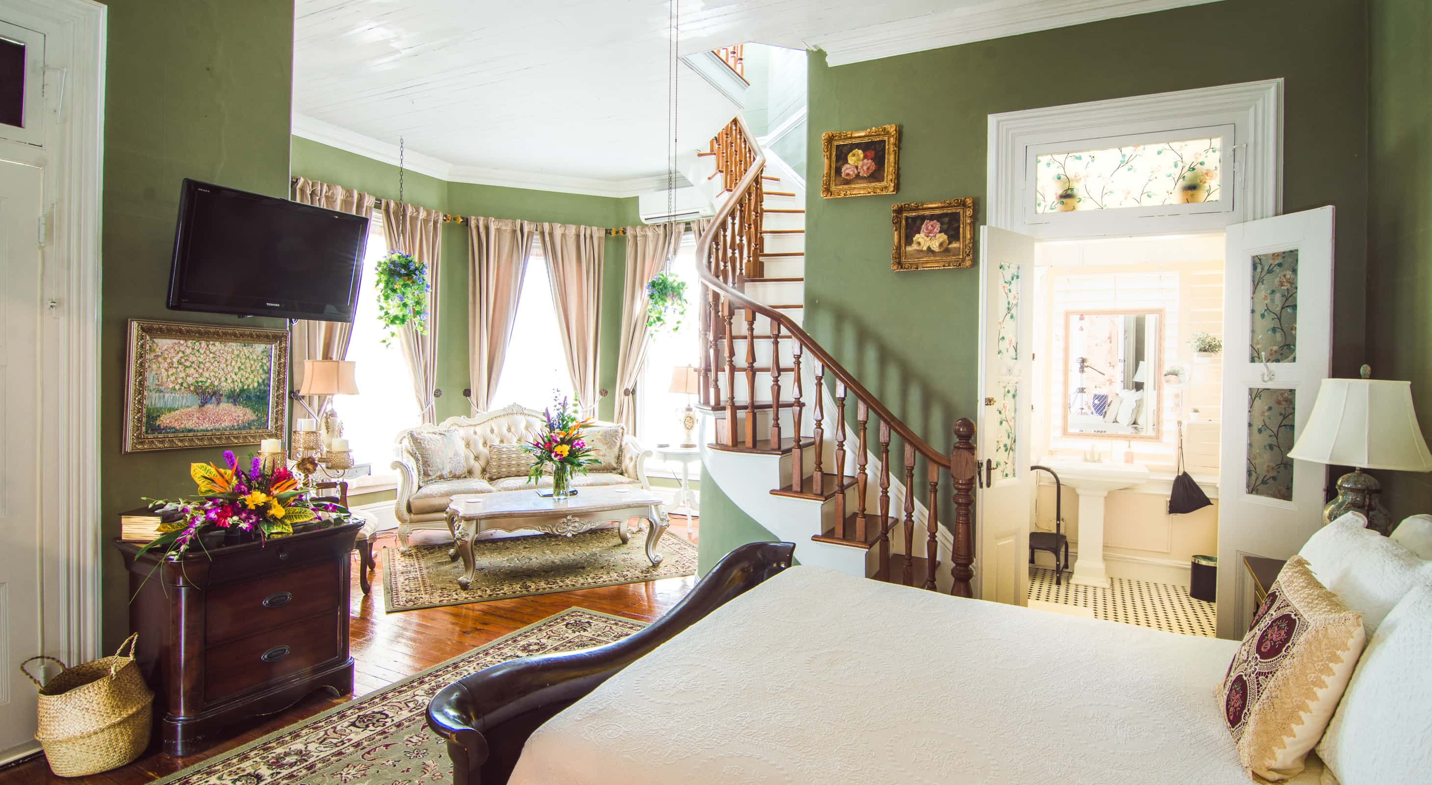 Turret room at our Key West Bed and Breakfast