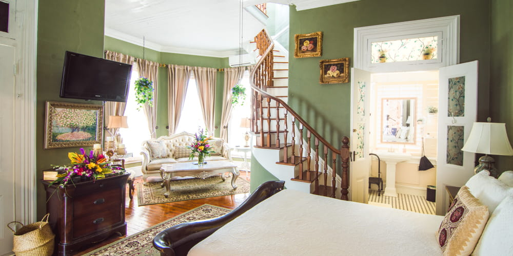 Relax in the Turret Suite for the best Key West lodging